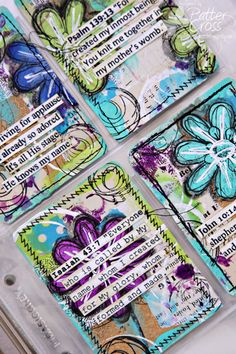Scripture Art Cards for Triple the Scraps: {SCRLLC14} Scripture Lesson #20, He Knows My Name