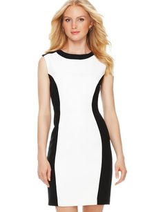 Colorblock Sheath Dress Chuah Limited adds slimming detail and is easily paired for a work worthy look! Dress Outfits, Fashion Outfits, Womens Fashion, Fashion Trends, Work Dresses, Women's Dresses, Fashion Inspiration, Sheath Dress, Dress Skirt