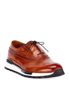 Get free shipping on Berluti Men's Venezia Leather Brogue Sneakers at Bergdorf Goodman. Shop the latest luxury fashions from top designers. Leather Brogues, Leather Sneakers, Calf Leather, Tom Ford Jacket, Brown Sneakers, Fashion Shoes, Men Fashion, Me Too Shoes, Oxford Shoes