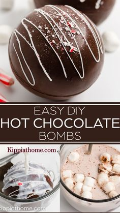 Hot Chocolate Gifts, Christmas Hot Chocolate, Chocolate Bomb, Hot Chocolate Bars, Chocolate Making, Best Holiday Cookies, Holiday Cookie Recipes, Easy Cookie Recipes, Holiday Baking