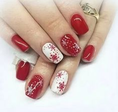 ❤ Let's take a look of the most beautiful Christmas nail designs like red Christmas nails, jingle bells nails, snowflake nails, Santa Claus nails and a lot of Christmas inspired nails that will act as inspiration for you! Christmas Gel Nails, Christmas Nail Art Designs, Holiday Nails, Christmas Design, Xmas Nail Art, Christmas Ideas, Christmas Quotes, Snowflake Nails, Super Nails