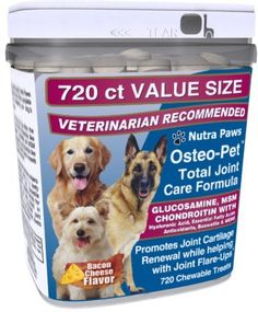 Osteo Pet Glucosamine for Dogs with Chondroitin MSM HA Boswellia Extract and More  720 Ct Value Size *** Visit the image link more details. This is an Amazon Affiliate links.