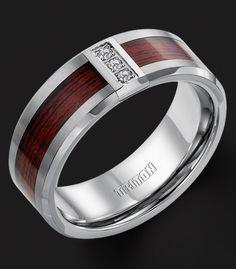 Stunning wedding rings Wood inlay men s wedding rings