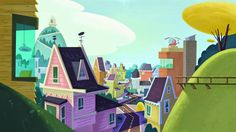 Background Designs da série Zip Zip, do Disney Channel | THECAB - The Concept Art Blog