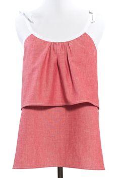Indiesew.com | Waterfall Tank sewing pattern by Sew Caroline - $13.00