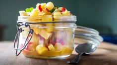Summer in a jar ... pineapple, chilli and mint salsa.