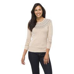 Crew Neck Raglan Sleeve Sweater - Merona (Desert Tan)