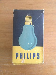 Philips dark room safety bulb (1940s)