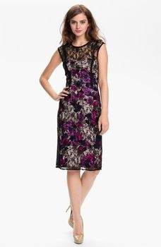 French Connection 'Fast Lois Lace' Floral Illusion Yoke Sheath Dress in November 2012 Parties and Presents from Nordstrom