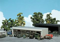 Faller military workshop for commercial vehicles