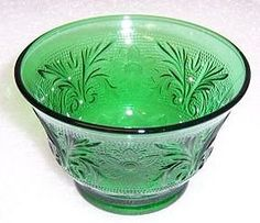 green sandwich glass - my grandmother had these