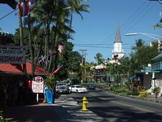 Charming downtown Kailua-Kona, Hawaii. Visited just a few days after the Tsunami in March 2011. Was the hardest hit of the Big Island, but was quickly cleaning up. Loved the slow-pace of the town. A mix of locals & tourists; not overcrowded at all. Beautiful & friendly.