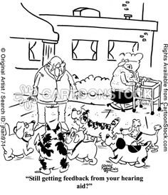 Hearing Aid Feedback Cartoons and Comics - funny pictures from CartoonStock