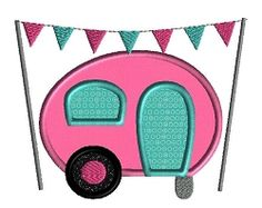 Camper Applique - 3 Sizes! | What's New | Machine Embroidery Designs | SWAKembroidery.com Sew Cha Cha