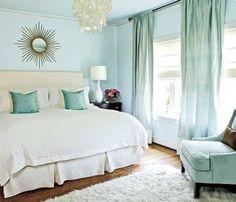 like the turquoise. Pretty colors, i like the similar wall and drape colors.
