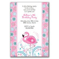 "wording""  A pink flamingo party is lots of fun...and you're invited to a special one."
