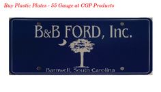 Buy Plastic Plates - 55 Gauge online at CGP Products an automotive dealer supply company which are screen printed with UV resistant inks on durable polyethylene plastic. Guaranteed not to crack, fade or peel. For more details log on to https://www.cgpproducts.com/custom-products/license-plates/plastic-plates-55-gauge