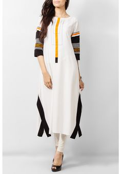 White Mix Cotton Box Junction Kurta – COD, Free Shipping & 7-Day Returns…