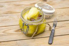 Marinoidut päärynät My Cookbook, Moscow Mule Mugs, Pickles, Cucumber, Pear, Food And Drink, Coconut, Fruit, Vegetables