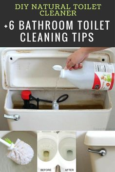 DIY Natural Toilet Cleaner + 6 Bathroom Toilet Cleaning Tips - cleaning hacks