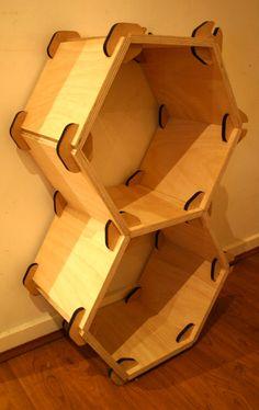 Honeycomb Modular Shelving, Design 2010 by Patrick McEldowney at Coroflot.com