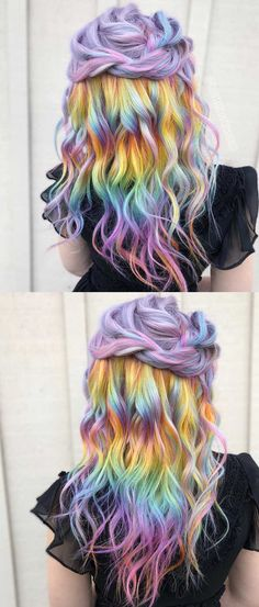 Pravana metallic pastel rainbow melt hair color 2018.