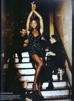'Court de Danse' from………..Vogue Paris September 1990 feat Naomi Campbell & Claudia Mason