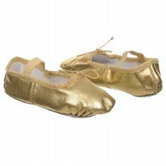 Dance Class Metallic Ballet Tod/Pre Shoes (Gold) - Kids' Shoes - 6.0 M