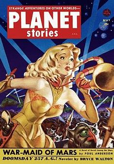 Planet Stories Flame Jewel Of The Ancients A4 Glossy Vintage Sci-Fi Comic//Magazine Cover Art Print