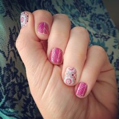 Spearhead and Quilted Jamberry nail wrap combo.  So pretty together!  - Emily Nelson-Independent Jamberry Consultant https://enchantingjams.jamberry.com/us/en/