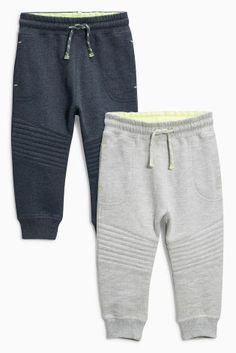 Buy Charcoal/Grey Quilted Joggers Two Pack (3mths-6yrs) online today at Next: United States of America