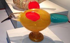 Oiva Toikka, Catcher, 1/1 for the Museum of Glass, Tacoma, WA, 2004? Glass Museum, Art Of Glass, Glass Birds, Hurricane Glass, Catcher, Finland, Tableware, Design, Glass Art