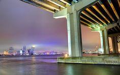 Jacksonville, Florida    Misty night in Jacksonville