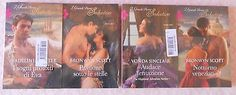 Lotto 4 libri romanzi rosa I Grandi Storici Seduction NUOVI Sinclair Scott
