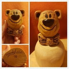 Another dear bear. Wood carving and burning...