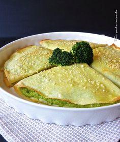 Di pasta impasta: Crêpes al pesto di broccoli Veggie Recipes, Cooking Recipes, Healthy Recipes, Pasta Company, Crepe Recipes, Slow Food, Vegetarian Cooking, Quesadilla, I Foods