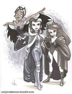 Disney princesses with X-men powers