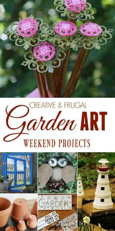 There are the top creative garden art projects for the year. Whether you want to repurose old materials, create something unique to grow or display plants, or get crafty with natural treasures, there's plenty of ideas here.