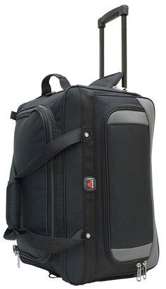 "Amaro Explorer 21"" Wheel Duffle Bag   Carry On Wheel Duffle Bag   Lightweight Wheel Rolling Duffle Bag"