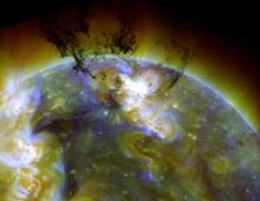 Material from the sun lifts off the star's surface only to be pulled back in
