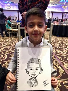 A boy who got his caricature drawn from Niloo the caricature artist at a recent kids birthday party. Cartoon Drawing For Kids, Cartoon Drawings, Easy Drawings, Drawing Sketches, Pencil Drawings, Easy Pictures To Draw, Draw On Photos, Caricature Artist, Caricature Drawing