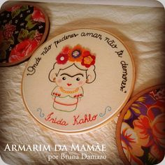 Bastidor bordado Frida Kahlo