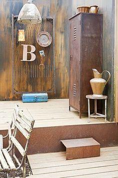 Rusty closet #brown #industrial