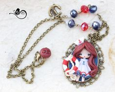 collana marinaretta  / polymerclay / zingaracreativa / clay / doll fimo di ZingaraCreativa su Etsy