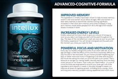 Intellux is a natural supplement for your brain that can provide nourishment to your brain. There are lots of researches made on this product and it is proven that this works. know more : http://www.healthyminimarket.com/intellux/