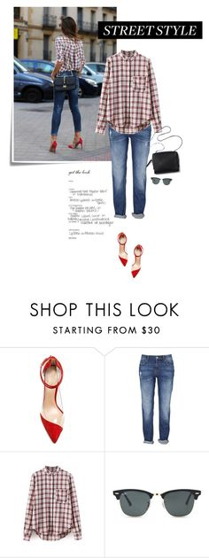 """""""Street Style w/Red (CONTEST)"""" by browneyez ❤ liked on Polyvore featuring Post-It, Raye, 3.1 Phillip Lim and Ray-Ban"""