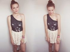 ROSE PANTHER  (by Juule Kay) http://lookbook.nu/look/3911768-ROSE-PANTHER. Monster and lace. love!