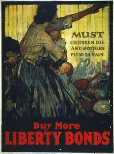 This is a propaganda poster that was made during WW2. The poster is pressuring people  to buy liberty bonds and war bonds to prevent very bad things from happening. It is credible because it comes from a reliable source and it was made during WW2. This changed the lives of potential investors who previously would not invest in these bonds but are now pressured to do so. Therefore, this changed the lives of potential investors who were influenced to invest in different places than before.