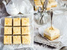 Лимонно-кокосовые квадратики с рикоттой | Самый вкусный портал Рунета