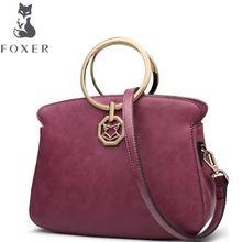 FOXER2017 новые роскошные модные Высококачественная кожа Повседневная плечо кросс-кожаная сумка продукции марки 100% высокого качества женщин м...(China)